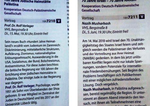 """Offener Brief der WerteInitiative. jüdisch-deutsche Positionen an die VHS Osnabrück: """"Ihre Veranstaltungen 18A 7210 und 18A 7211 oder Volkshochschule Osnabrück: Wenn """"Bildung"""" schadet."""""""