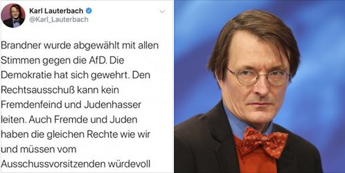 Karl Lauterbach Spd Auch Fremde Und Juden Haben Die Gleichen Rechte Wie Wir Richard Bermann Facebook Honestly Concerned
