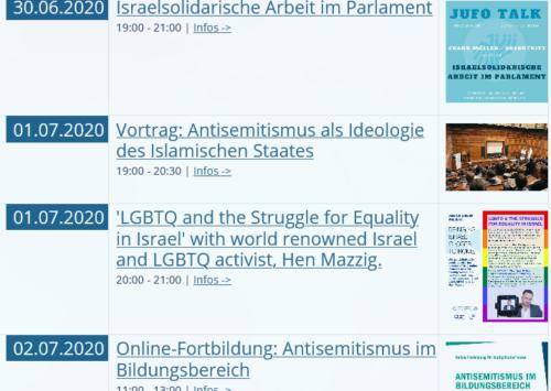 STÄNDIG AKTUALISIERT: Viele neue Termine in unserem Online-Kalender | ILI – I Like Israel e.V.