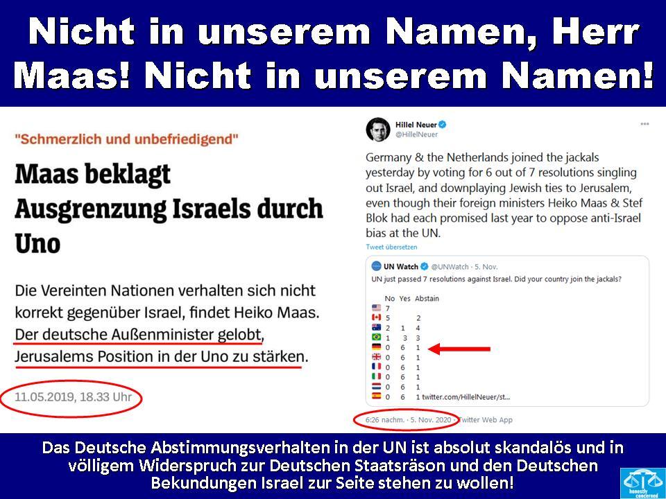 Nicht in unserem Namen, Herr Maas! Nicht in unserem Namen!