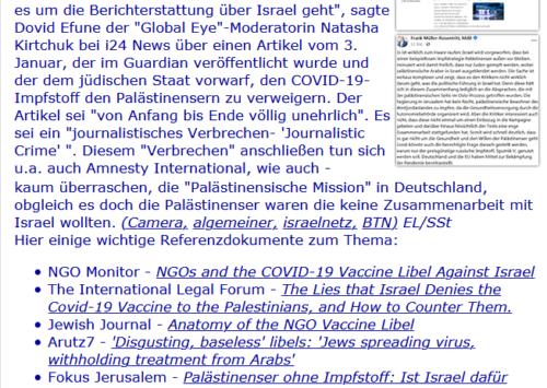 NACHRICHTEN DIE MAN NICHT VERPASSEN SOLLTE: ILI News am 10. Januar 2021 | ILI – I Like Israel e.V.