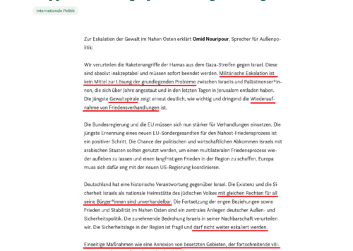 Deutsche Politiker reagieren auf die Angriffe auf Israel – Teil 1 – Manche verstehen mehr, manche weniger bis gar nichts…