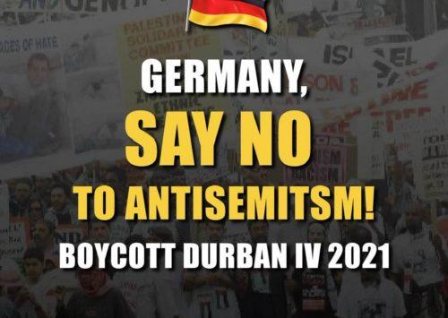 Den Worten Taten folgen lassen: Wir warten auf die Absage Deutschlands hinsichtlich der Teilnahme an Durban IV…